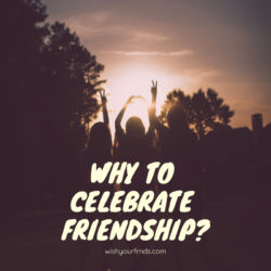 why to celebrate friendship