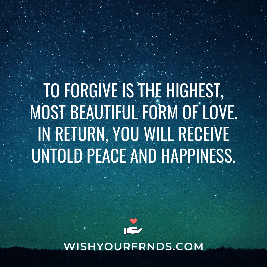 Forgiveness Quotes in Love