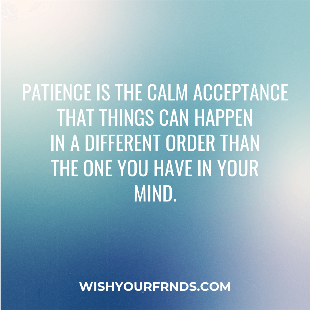Patience Quotes for Love